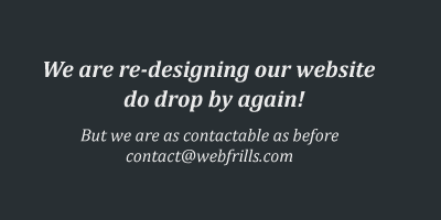 We are re-designing our website do drop by again!